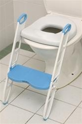 Cushie Step-Up Padded Toilet Seat with Step Stool