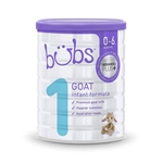 Bubs Goat Milk Infant Baby Formula Step 1 from birth 800g
