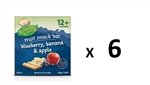 Rafferty's Garden 128gx6 Fruit Snack Bars with Blueberry Banana Apple 12m+