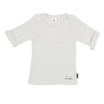 Bonds Baby Newbies Rib 3/4 Sleeve Tee - White - size 0