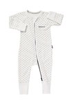 Bonds Baby Zip Wondersuit - White/Black Spot - Size 0