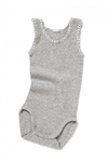 Bonds Baby Signature Singletsuit New Grey Marle - Size 00