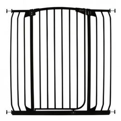 Dreambaby Safety Gate Swing Closed Hallway F191B Chelsea Tall XTra Hallway Black
