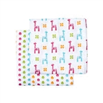JJ Cole Collections Muslin Cotton Wrap Blanket - Brights (2 Pack)