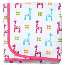 JJ Cole Collections Cotton Receiving Blanket - Bright Giraffes