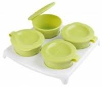 Closer To Nature Explora 4 Pop Up Freezer Pots and Tray (4m+) GREEN