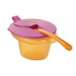 Closer To Nature Explora Cool and Mash Weaning Bowl (4m+)  Orange and Pink