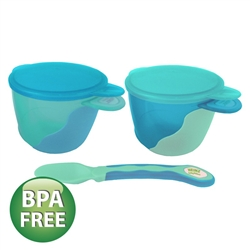 Heinz Baby Basics Snack Bowl and Weaning Spoon Set BLUE
