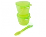 Heinz Baby Basics Snack Bowl and Weaning Spoon Set GREEN