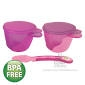 Heinz Baby Basics Snack Bowl and Weaning Spoon Set PINK