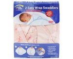 The First Years Swaddler (Pink Star print) - 2pk