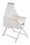 NEW Mother's Choice Coco Bassinette Air Mesh Flow Basket - White