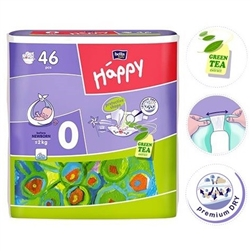 Bella Baby Before Newborn Nappies <2kg 46pc