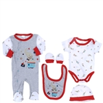 Snugzeez Elephant Circus 5-Piece Value Set Grey - Size 0