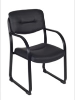 Regency Guest Chair - Crusoe Side Chair with Arms - Black