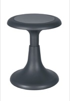 "Regency Classroom Seating - Glow 15"" Wobble Stool, Grey"