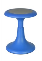 "Regency Classroom Seating - Glow 17"" Wobble Stool, Blue"