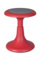 "Regency Classroom Seating - Glow 17"" Wobble Stool, Red"