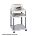 Wave Deskside Printer Stand, Gray