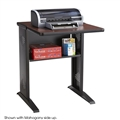 "Steel Base Fax / Printer Stand - 24""W, Mahogany / Medium Oak, Black (legs)"