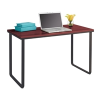 Work From Home Table Desk, Cherry top and black base