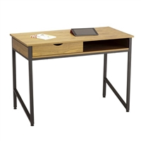Work From Home Desk - Single Drawer, Black