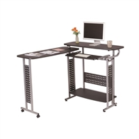 Scoot Standing-Height Desk, Rotating Top , Black