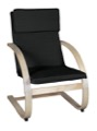 Niche Mia Bentwood Reclining Chair - Natural/ Black