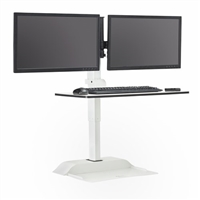 Soar Electric Desktop Sit Stand Dual Monitor Arm