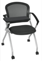 Regency Nesting Chair - Cadence Chair with Tablet Arm  - Black