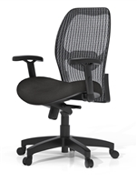 AVA Executive Office Chair - Black Mesh, Adjustable Chair