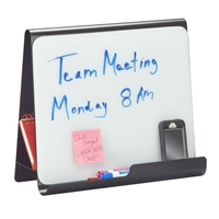 Wave Desk Accessory, Desktop Whiteboard & Magnetic Document Stand, Black