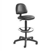 Precision Vinyl Extended-Height Chair with Footring, Black