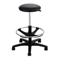 Extended-Height Lab Stool, Black