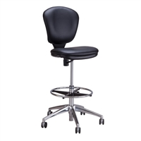 Metro Extended-Height Chair, Black Vinyl