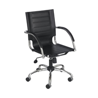 Flaunt Work From Home Chair Black Leather