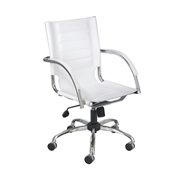 Flaunt Work From Home Chair White Leather