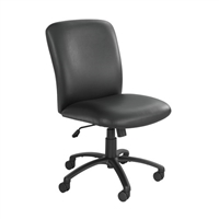 Uber Big and Tall High Back Chair - Vinyl, Black