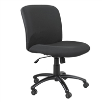 Uber Big and Tall Mid Back Chair, Black