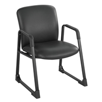 Uber Big and Tall Guest Chair- Vinyl, Black