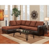 Chocolate L-Shaped Sectional