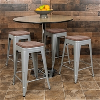 Metal/Wood Counter Height Stools