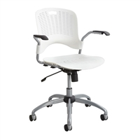 Sassy Manager Swivel Chair, White