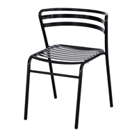 CoGo Steel Outdoor/Indoor Stack Chair (Qty. 2), Black