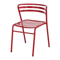 CoGo Steel Outdoor/Indoor Stack Chair (Qty. 2), Red