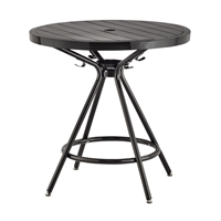 "CoGo Steel Outdoor/Indoor Table, Round, 30"", Black"