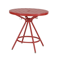 "CoGo Steel Outdoor/Indoor Table, Round, 30"", Red"