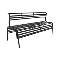 CoGo Bench with Back, Black