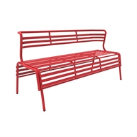 CoGo Bench with Back, Red