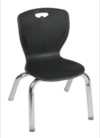 "Regency Classroom Chair - Andy 12"" Stack Chair - Black"